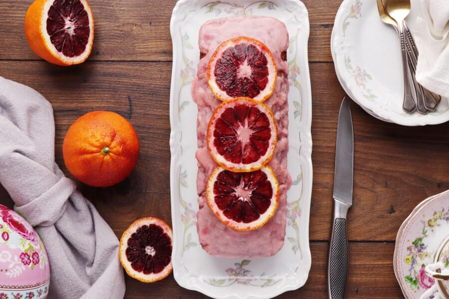 How to serve Blood Orange Loaf and Blood Orange Glaze
