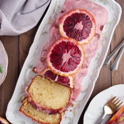 Blood Orange Loaf and Blood Orange Glaze Recipe-Blood Orange Loaf Cake-Glazed Blood Orange Loaf