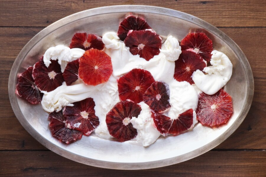 Blood Orange Salad with Burrata and Pesto recipe - step 1