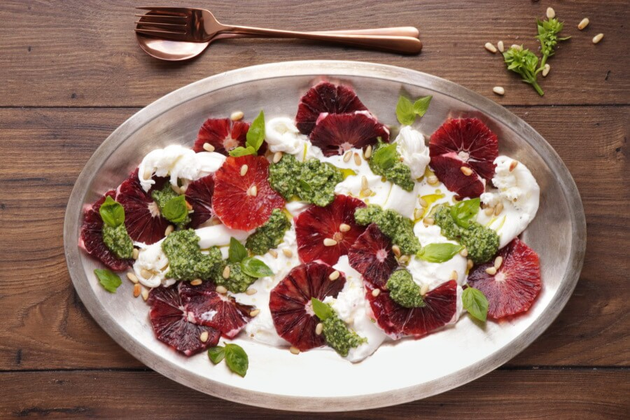 Blood Orange Salad with Burrata and Pesto recipe - step 5