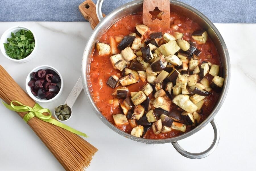 Caponata spaghetti with Eggplant recipe - step 6