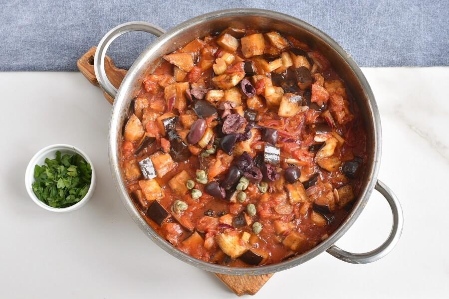 Caponata spaghetti with Eggplant recipe - step 7