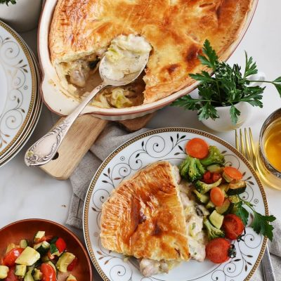 Chicken, Leek and Caerphilly Cheese Pie Recipes-Homemade Chicken, Leek and Caerphilly Cheese Pie-Delicious Chicken, Leek and Caerphilly Cheese Pie