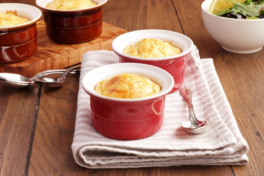 How to serve Classic Cheese and Leek Soufflé