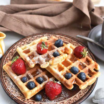 Classic Waffles Recipe-Homemade Classic Waffles-Delicious Classic Waffles