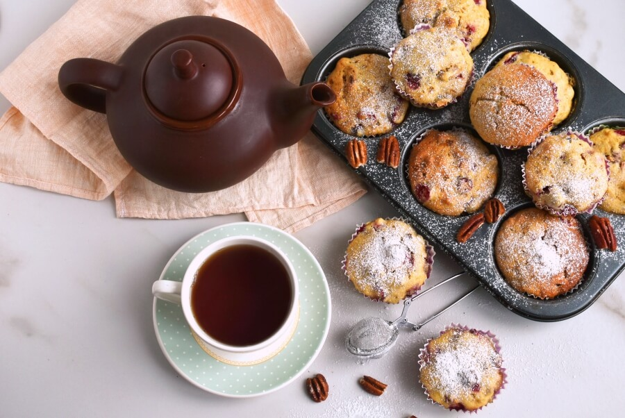 How to serve Cranberry Nut Muffins