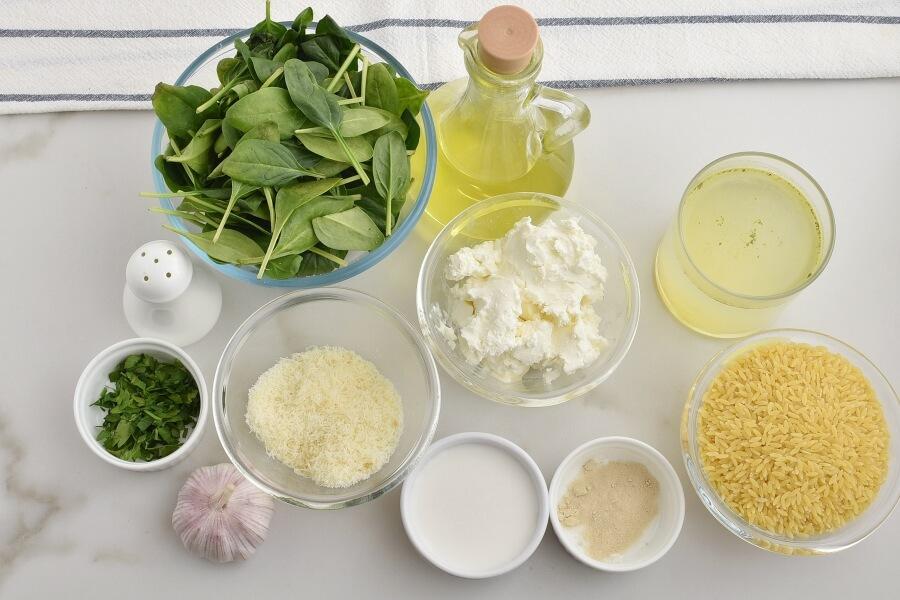 Creamy Roasted Garlic & Spinach Orzo Recipes-Homemade Creamy Roasted Garlic & Spinach Orzo-Easy Creamy Roasted Garlic & Spinach Orzo