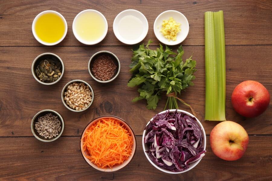 Ingridiens for Crunchy Cabbage Salad
