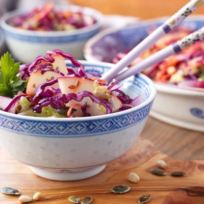 Crunchy Cabbage Salad Recipe-Crunchy Red Cabbage Salad-How to Make Red Cabbage Salad
