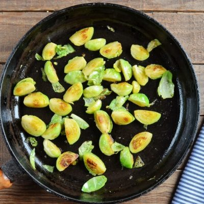 Fried Millet with Brussels Sprouts recipe - step 2