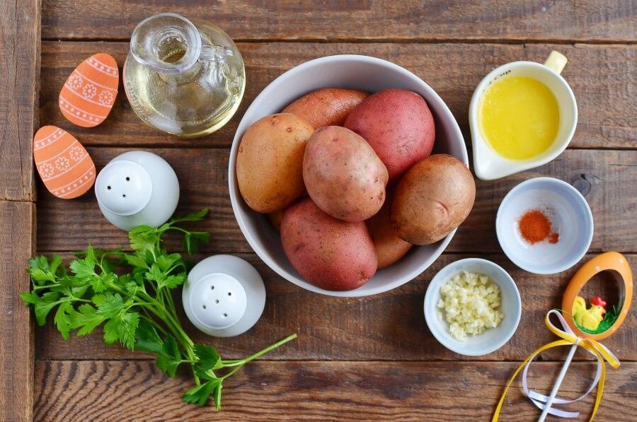 Ingridiens for Garlic Roasted Potatoes