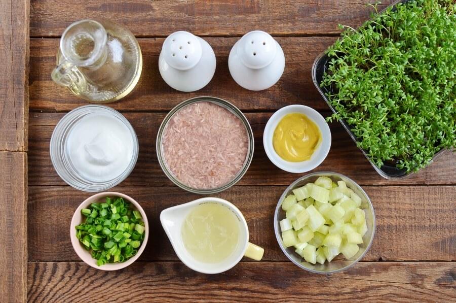 Ingridiens for Greek Yogurt Tuna Salad