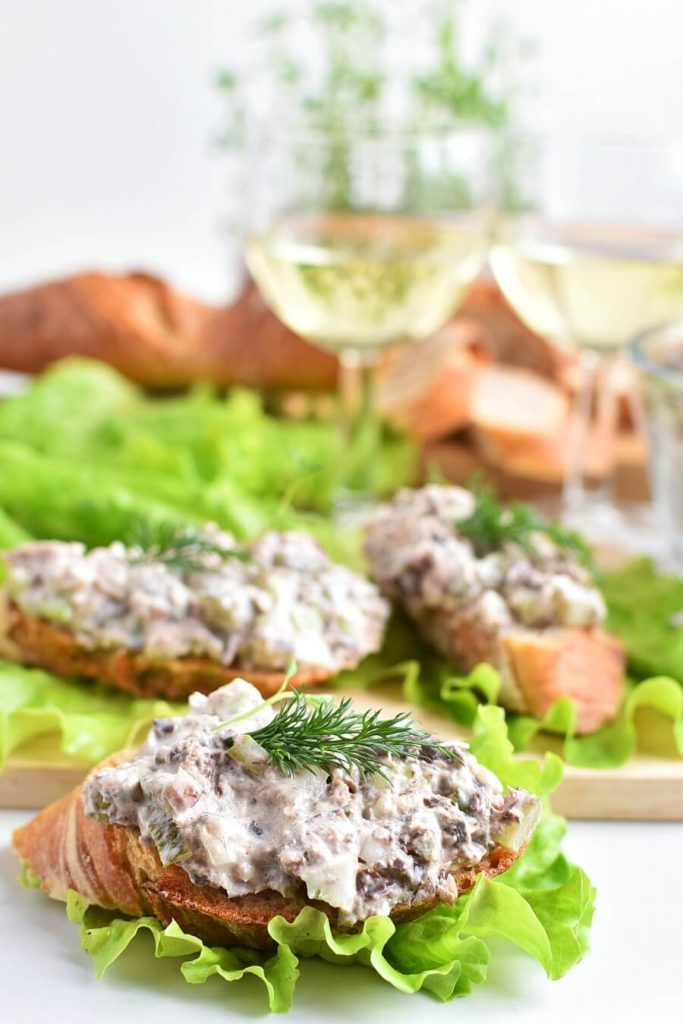 A lighter take on creamy tuna salad