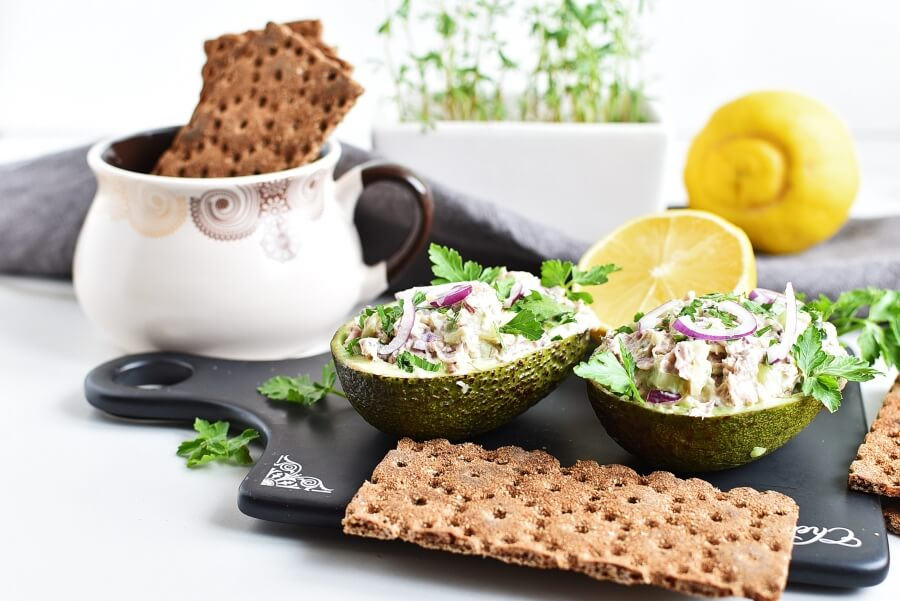 How to serve Healthy Tuna Salad Stuffed in Avocado