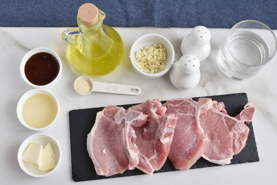 Ingridiens for Honey Garlic Pork Chops