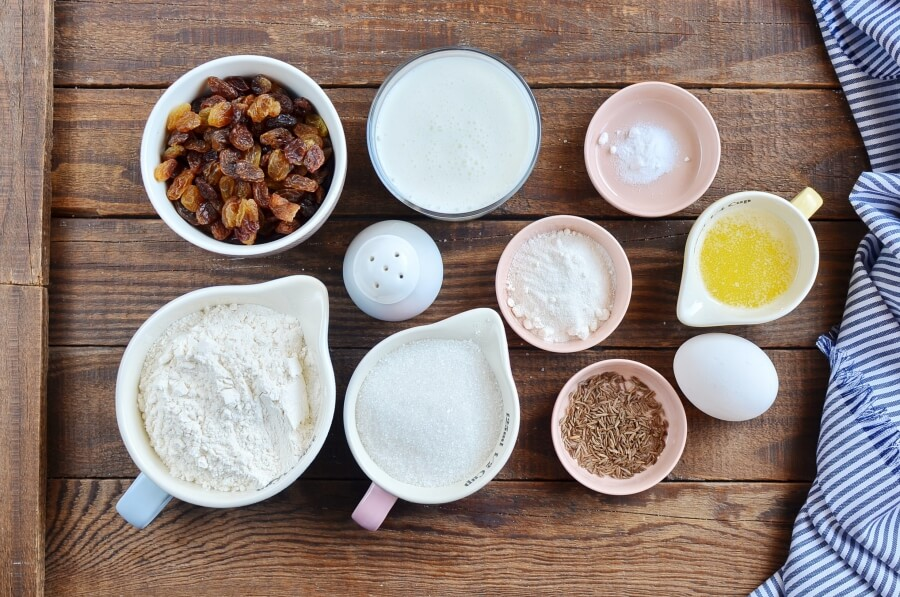 Ingridiens for Irish Soda Bread Muffins