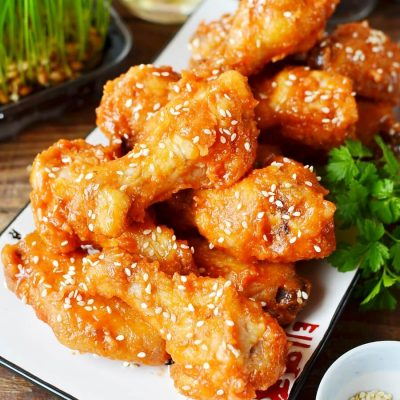 Korean Chicken Wings Recipe-How To Make Korean Chicken Wings-Delicious Korean Chicken Wings