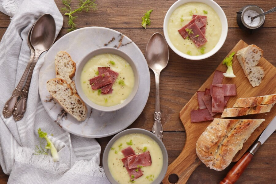 How to serve Leek and Fennel Soup