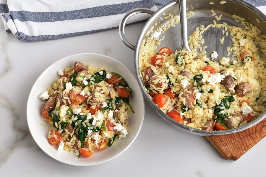How to serve Mediterranean Pork and Orzo