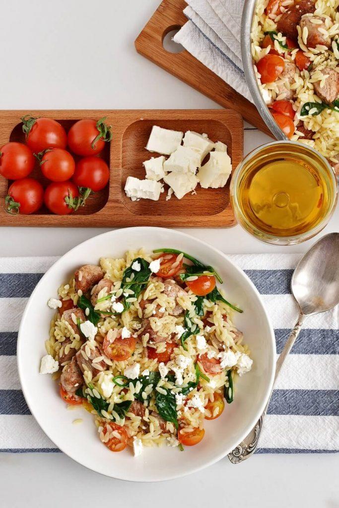 Mediterranean Pork and Orzo Recipe-Homemade Mediterranean Pork and Orzo –Delicious Mediterranean Pork and Orzo