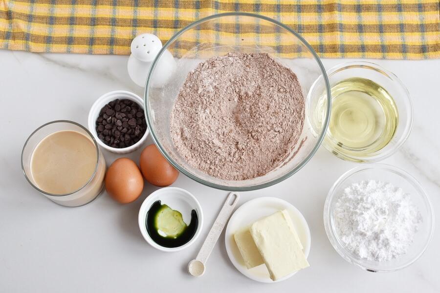 Ingridiens for Mint Irish Cream Brownies