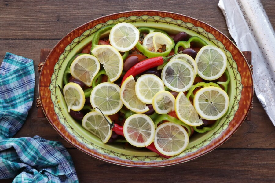 Moroccan Baked Fish Tagine with Vegetables recipe - step 8