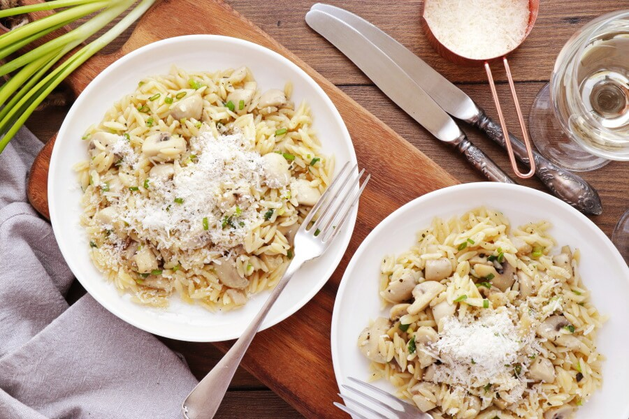 How to serve Orzo with Mushrooms, Scallions and Parmesan