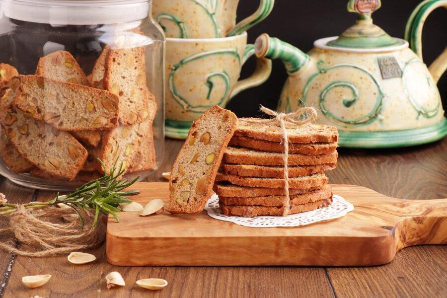 Pistachio, Lemon and Rosemary Biscotti Recipe-Italian Biscotti-Easy Biscotti