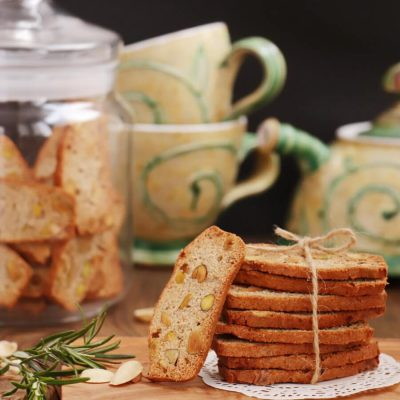 Pistachio, Lemon and Rosemary Biscotti Recipe-Italian Biscotti-Easy Biscotti