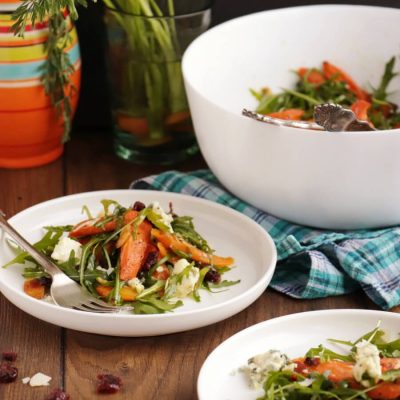 Roasted Carrot Salad Recipe-Easy Roasted Carrot Salad-Delicious Roasted Carrot Salad