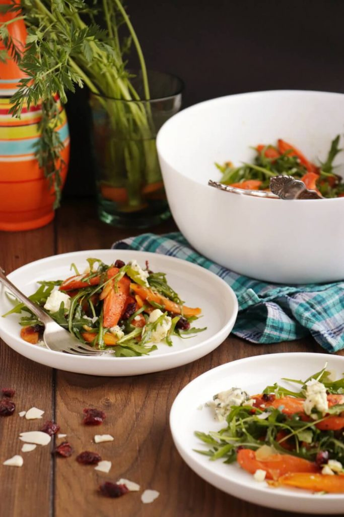 Carrot Salad with Blue Cheese and Cranberries