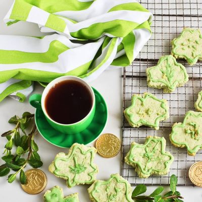 Shamrock Cookies Recipes-Homemade Shamrock Cookies-Easy Shamrock Cookies