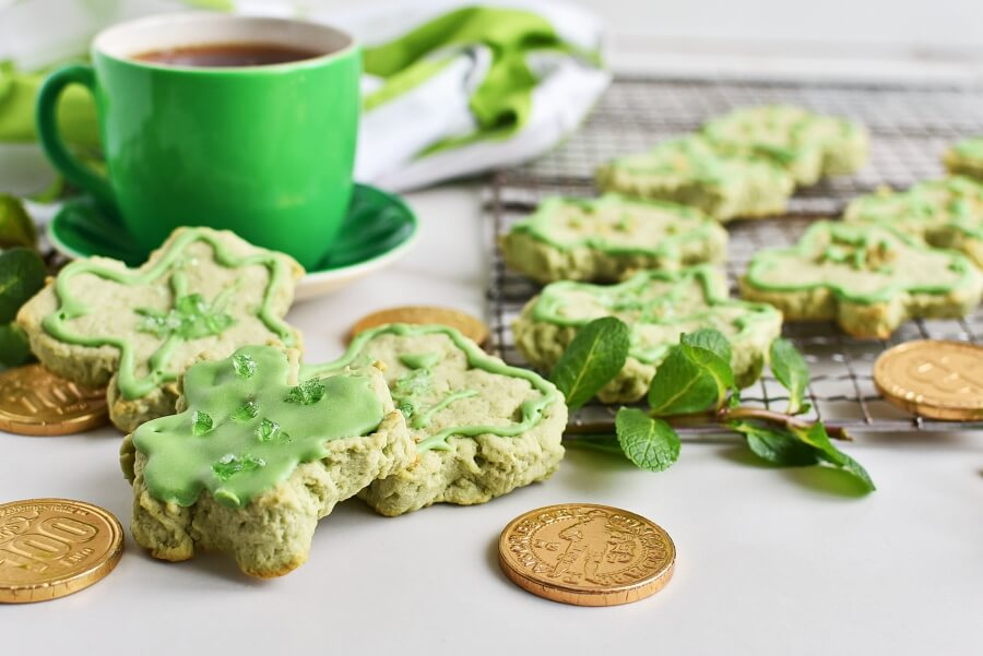 How to serve Shamrock Cookies