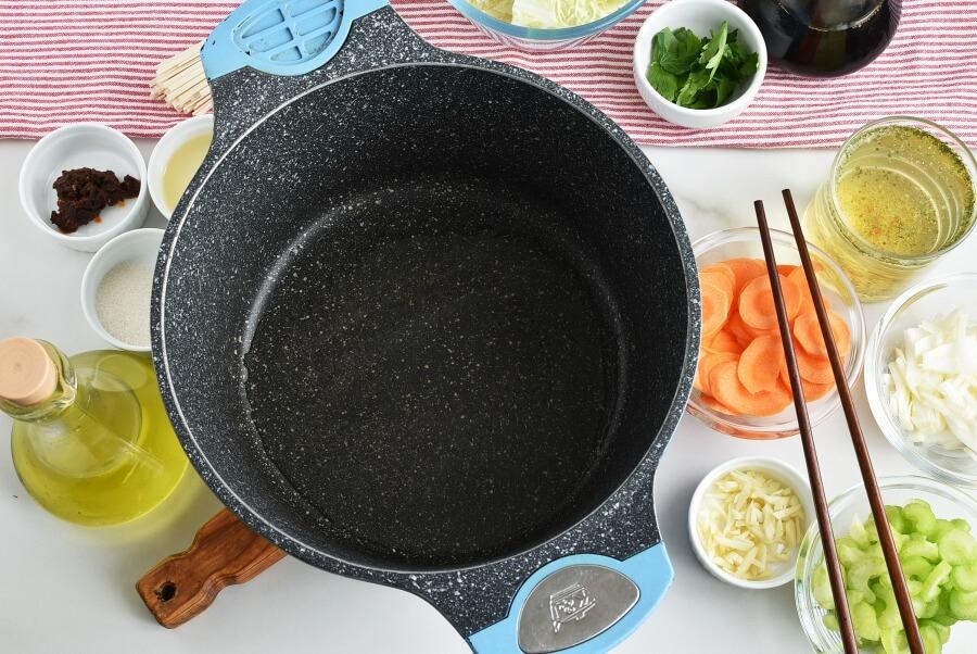 Vegan Shoyu Cabbage Soup recipe - step 1