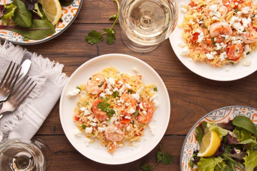 Shrimp Orzo with Feta Recipe-Orzo with Shrimp, Feta Cheese-Shrimp and Feta Orzo