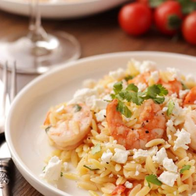 Shrimp Orzo with Feta Recipe-Orzo with Shrimp, Feta Cheese-Shrimp and Feta Orzo