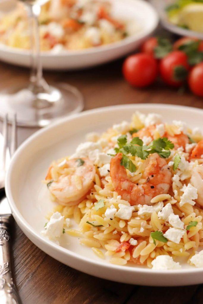 Shrimp Orzo with Feta