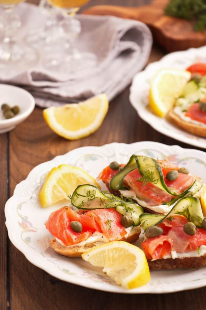 Smoked Salmon, Cucumber, Capers and Soda Bread