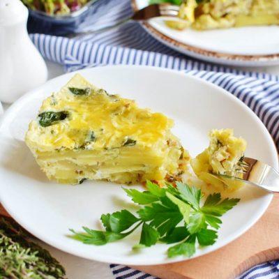 Spinach and Potato Frittata Recipe-How To Make Spinach and Potato Frittata-Homemade Spinach and Potato Frittata