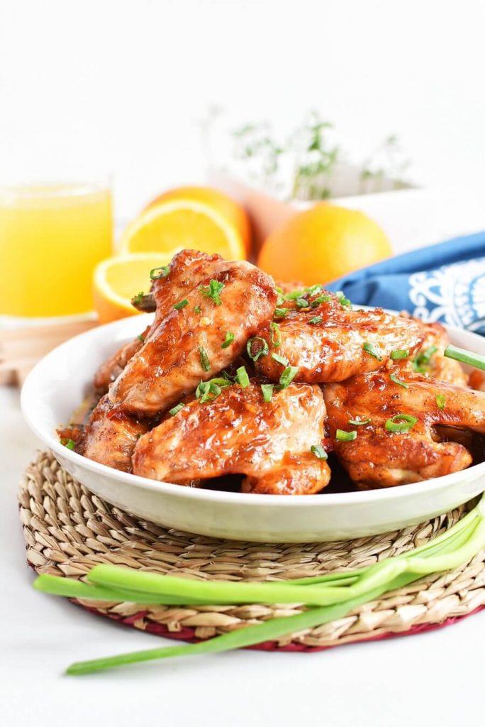Orange flavored wings