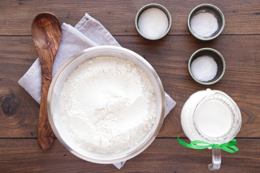 Ingridiens for Traditional Irish Soda Bread