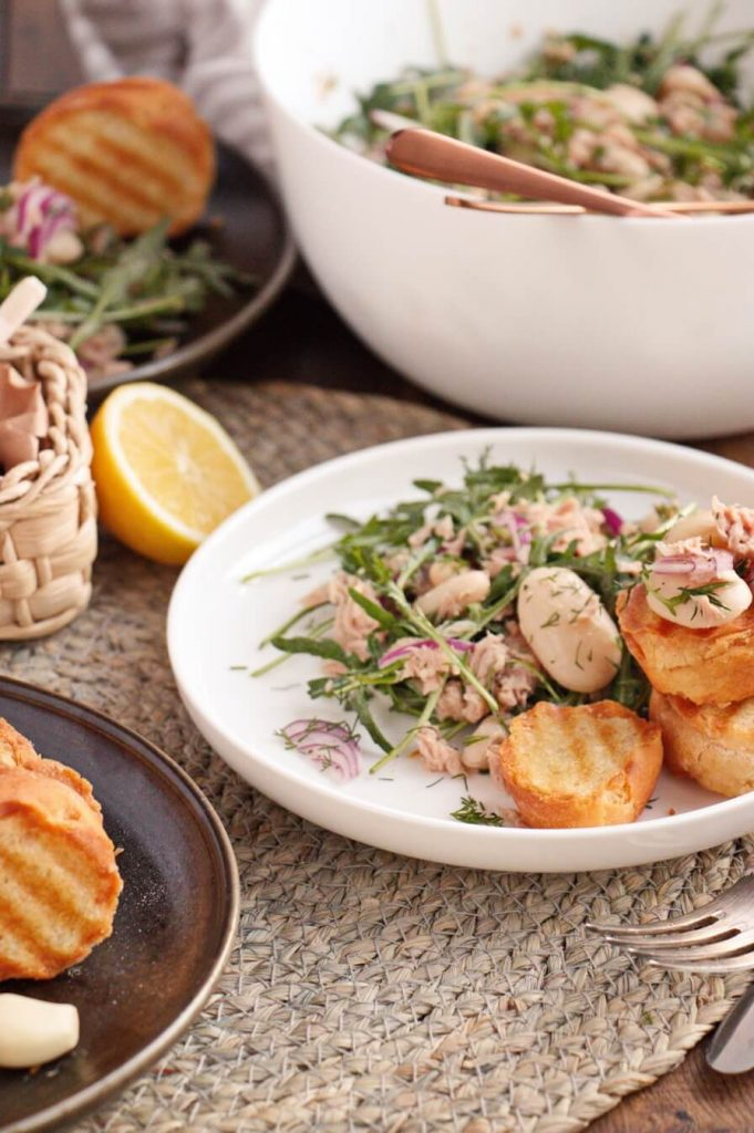 Tuna and Bean Salad with Char-Grilled Toasts