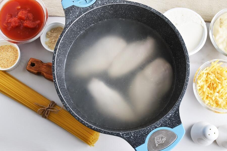 Ultimate Chicken Spaghetti recipe - step 1