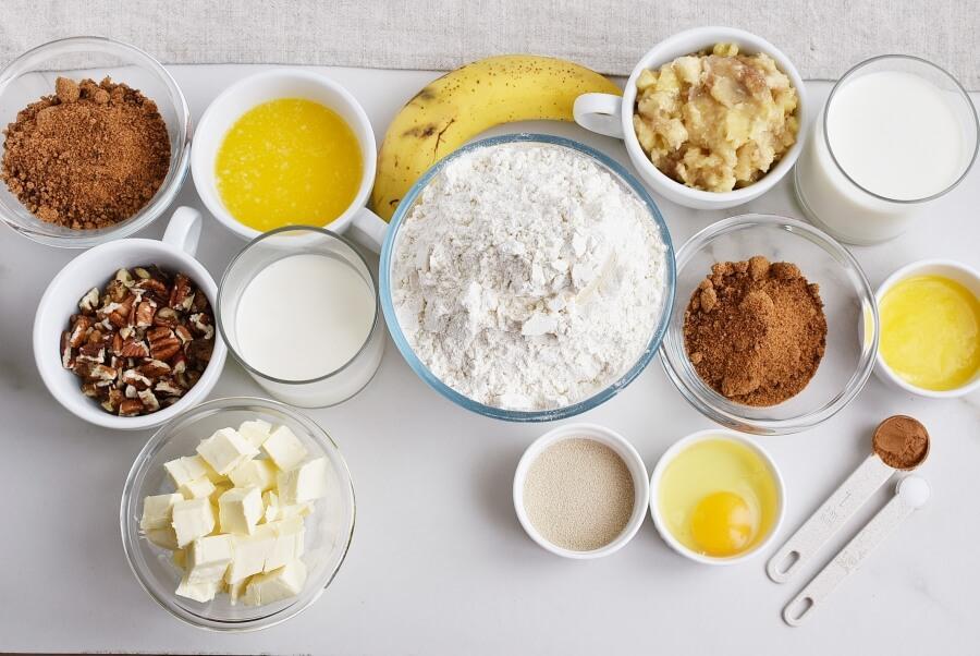 Ingridiens for Upside-Down Banana Monkey Bread