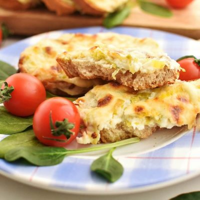 Welsh Leek and Cheese Rarebit Recipes-Homemade Welsh Leek and Cheese Rarebit-Easy Welsh Leek and Cheese Rarebit