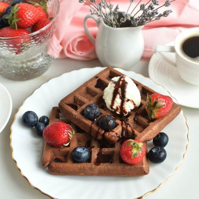 Wonderful Chocolate Waffles Recipe-Homemade Wonderful Chocolate Waffles-Delicious Wonderful Chocolate Waffles