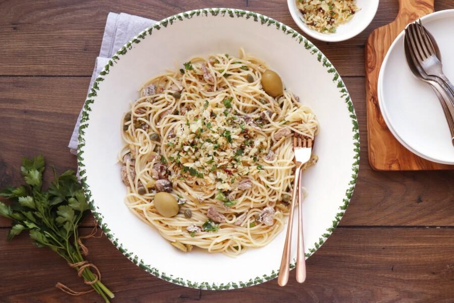 How to serve 15 Minute Tuna Pasta with Pangrattato