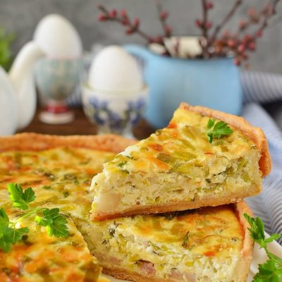 Bacon and Leek Deep Recipe-How To Make Dish Quiche-Bacon and Leek Deep-Dish Quiche-Delicious Bacon and Leek Deep-Dish Quiche