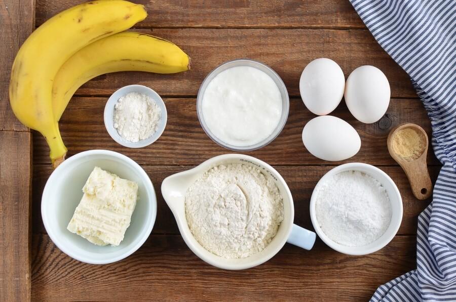 Ingridiens for Banana, Coconut & Cardamom Bread