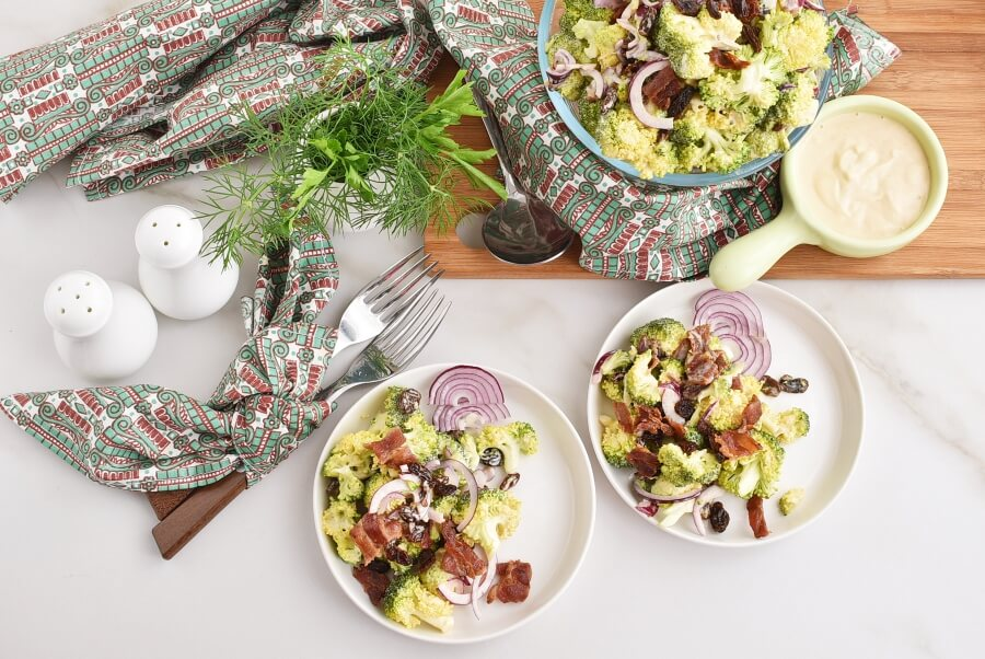 How to serve Broccoli Salad with Bacon